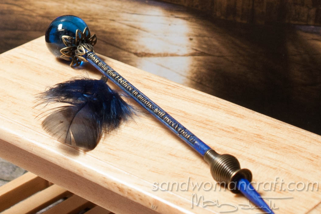 Magical blue wand for dollhouse miniatures