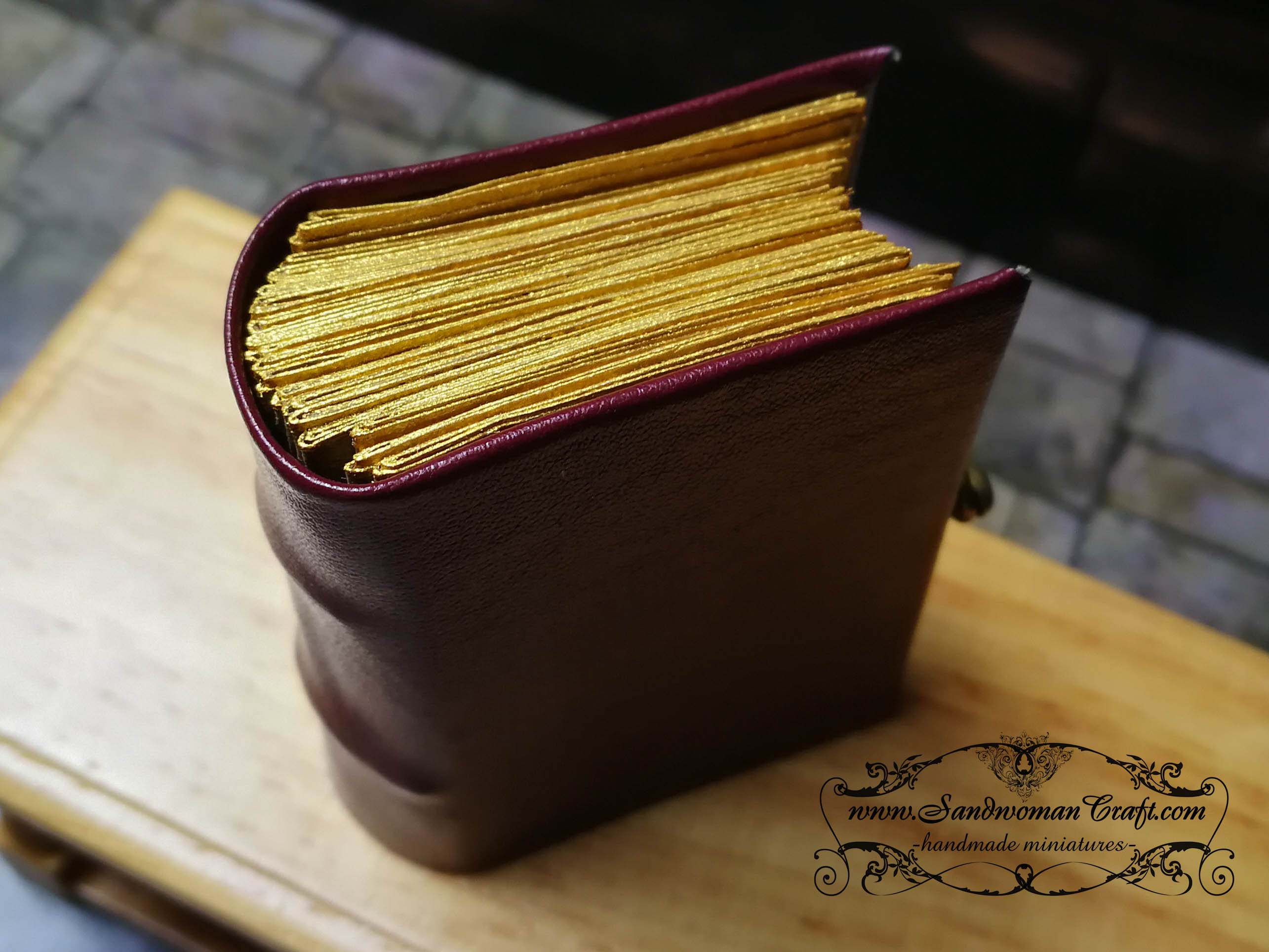 Miniature leather books 1:6 scale. Medieval theme