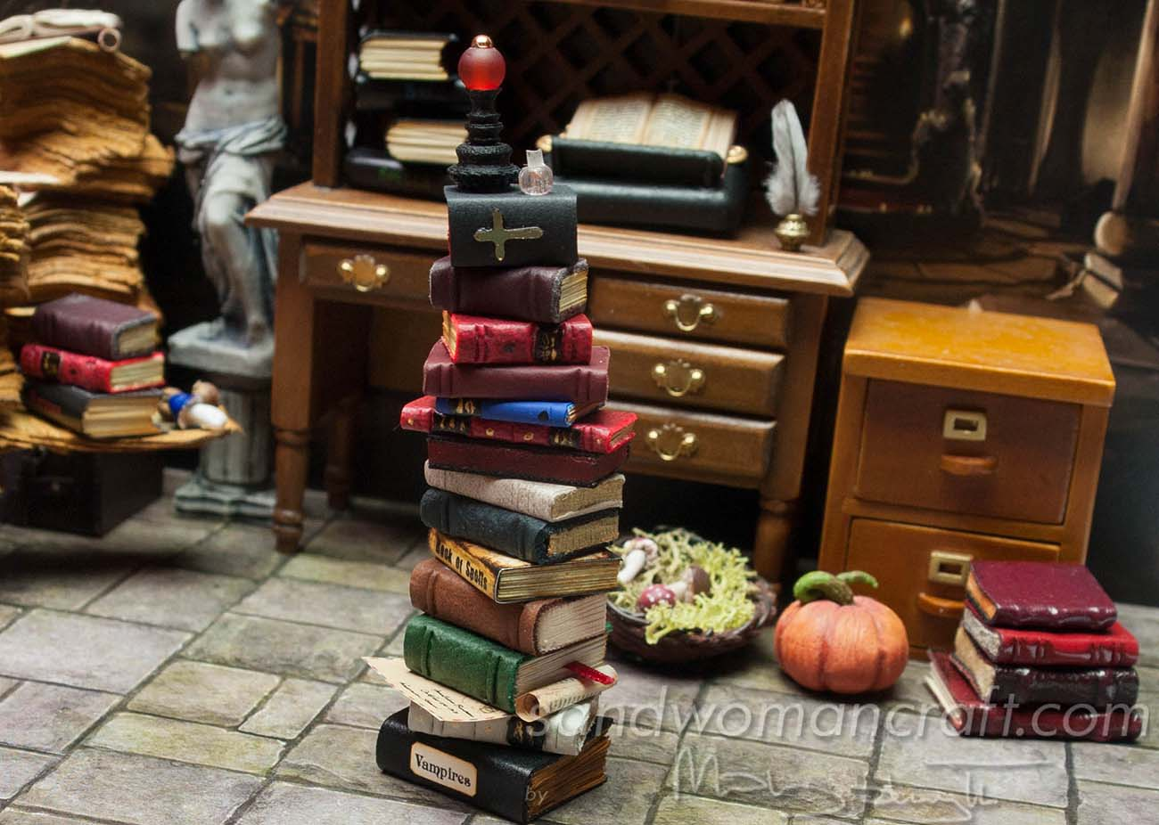 Stack contains Spells book and Vampires book
