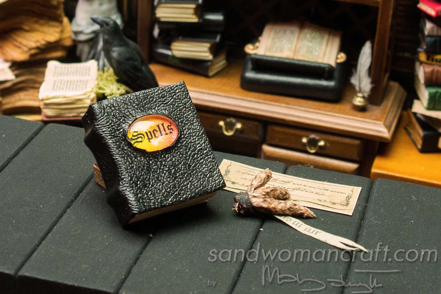 Miniature spell book