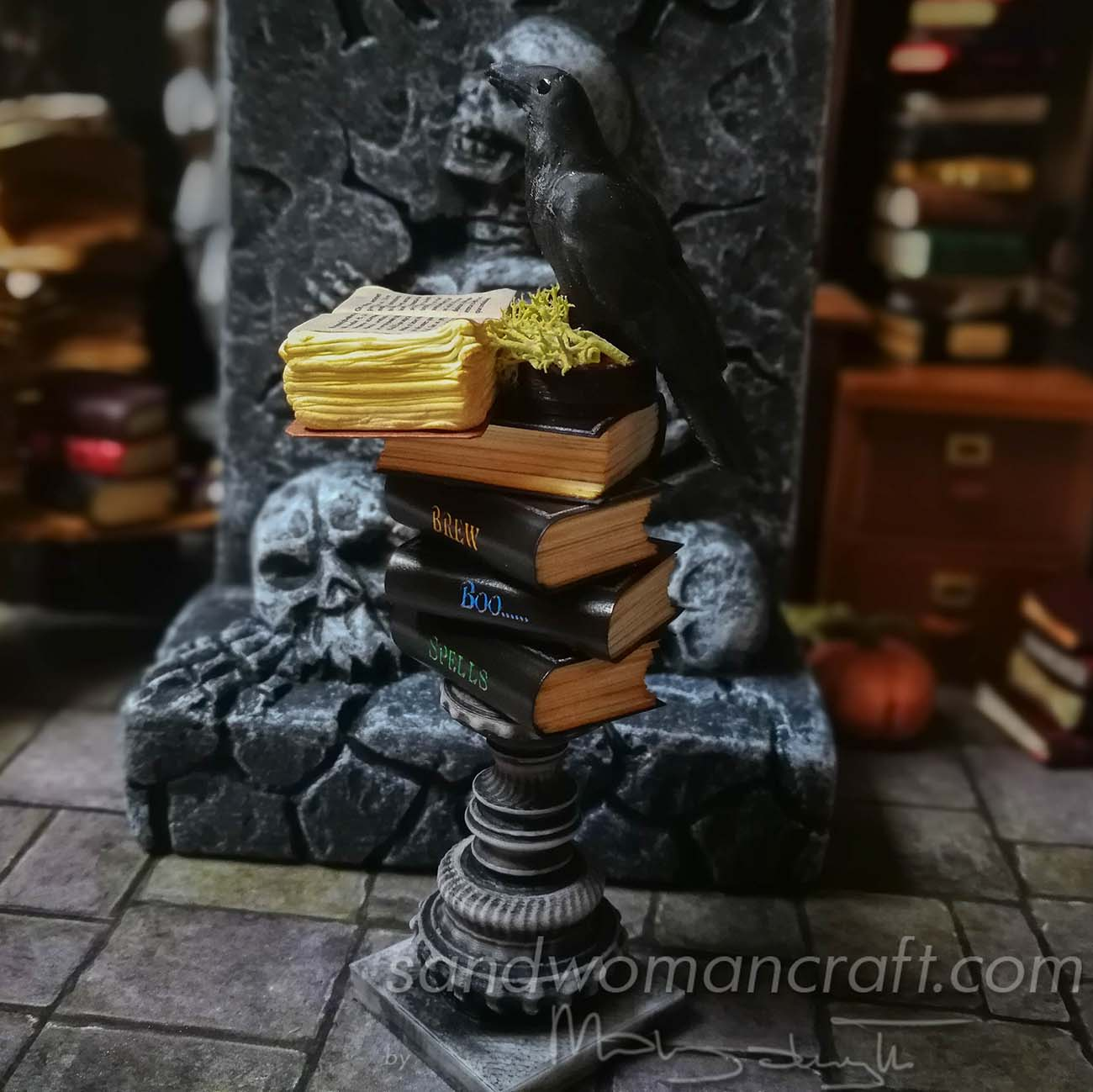 Stack contains clack tomes as Boo, Spells, Potions and Brew