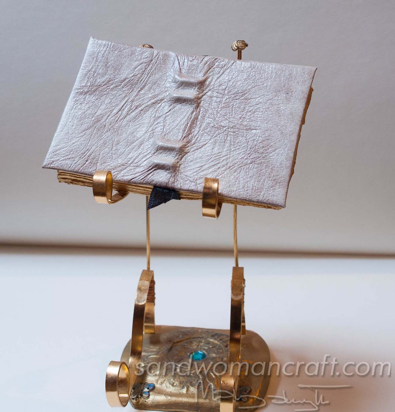 Miniature Medieval open book in 1:6 scale