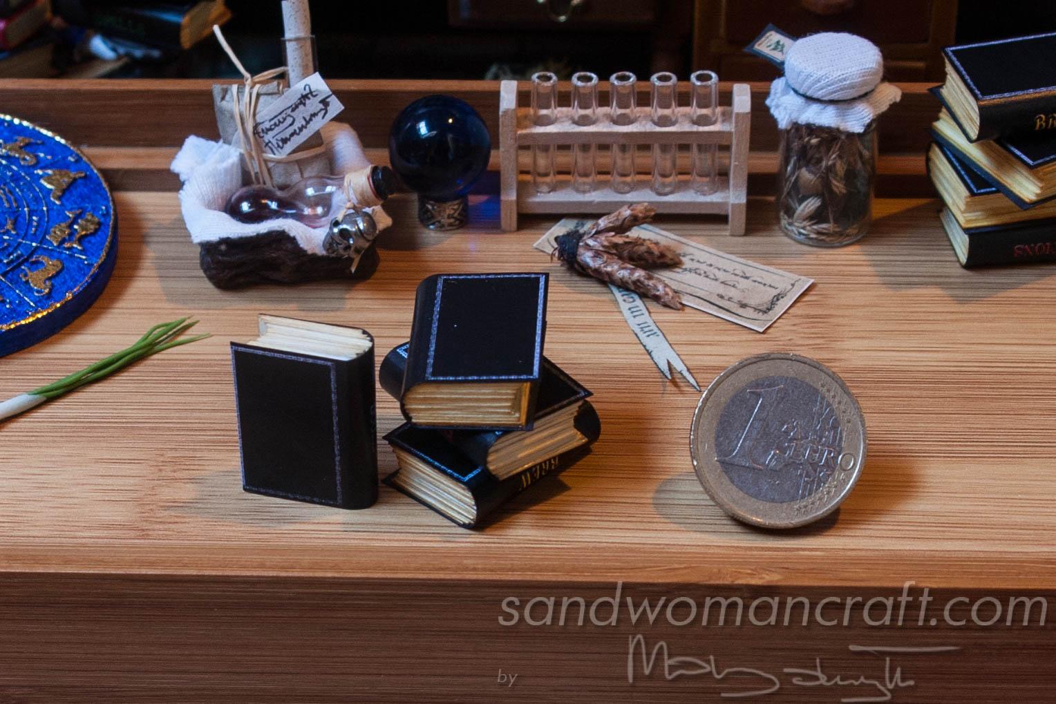 Miniature Magic Books for dollhouse setting