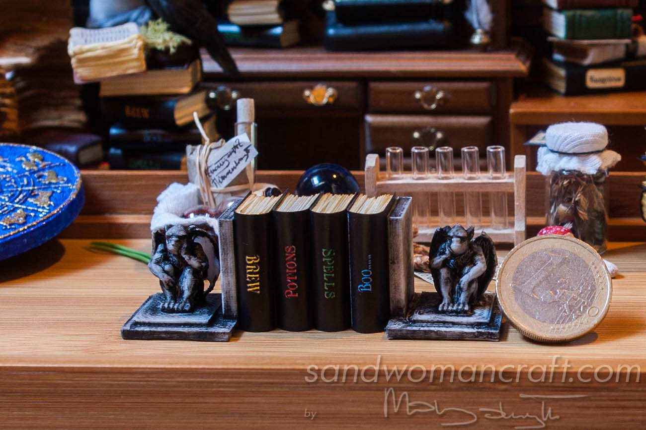 Set of four miniature books