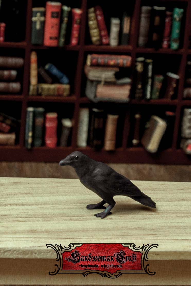 Miniature Crow in 1:12 scale