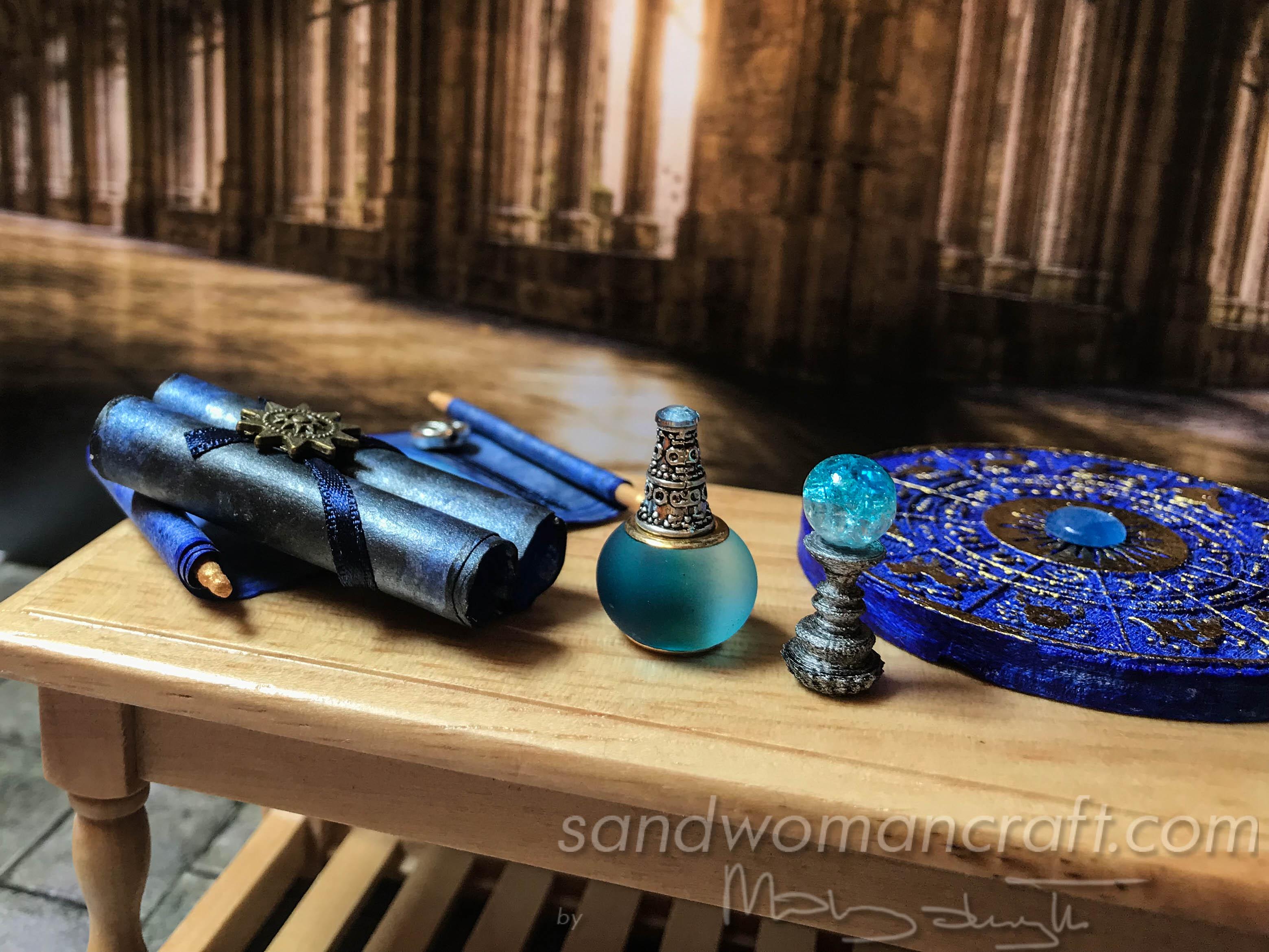 Miniature magical blue set